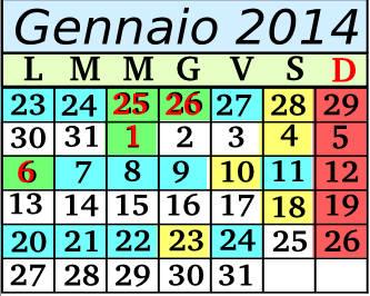 Gennaio Cadenza 1 5+2