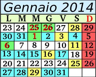 Gennaio Cadenza 12 5+2
