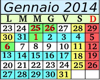 Gennaio Cadenza 4 5+2